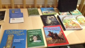 Some of the winning books on display